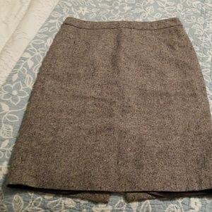 Jcrew tweed lined skirt